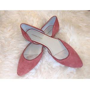 Adrienne vittadini leather flats